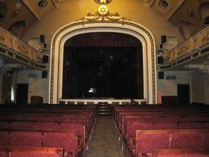 Концертный зал довоенного Рижского еврейского театра, музыкальным руководителем которого был педагог М.Александровича Ефим Вейсбейн
