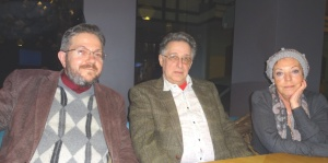 в центре - Леонид Махлис, справа - Илона Махлис, слева - Влад Шульман