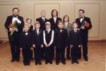 38.with Riga synagogue boys' choir and conductor JosephTsisser
