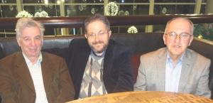 Сын Григория Бейлина - Боб Бейлин (Израиль) в Риге: справа налево: Боб Бейлин, Влад Шульман, Марк Иоффе