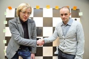 Kristaps Pētersons un Viesturs Meikšans foto http://www.la.lv/