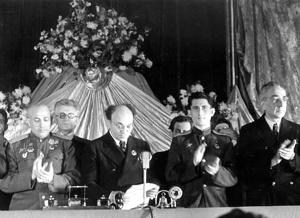 Михоэлс в президиуме пленума Еврейского Антифашистского Комитета, 1944г.  foto http://rusplt.ru/