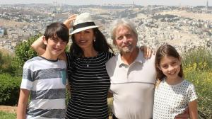 The Douglas family in Jerusalem in June 2014 photo - Gabriel Smith and Yehiel Solomon http://www.ynetnews.com