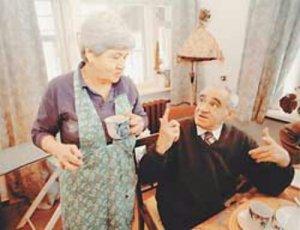 Зиновий Гердт с женой Татьяной Правдиной foto www.liveinternet.ru