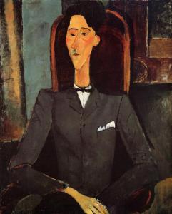 "А.Модильяни. ""Портрет Жана Кокто"". foto www.wikiart.org"