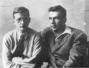 Д.Д.Шостакович и И.И.Соллертинский foto www.liveinternet.ru
