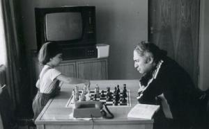 Михаил Таль с дочерью Жанной  foto www.upapashi.narod.ru