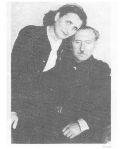 Макс Шац-Анин с женой в 1945г. foto http://www.isrageo.com/